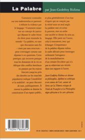 La palabre ; une juridiction de la parole - 4ème de couverture - Format classique