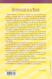 Dictionnaire De Magie - 4ème de couverture - Format classique