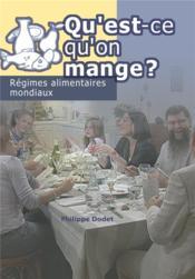Qu'est qu'on mange ? regimes alimentaires mondiaux (dvd) - Couverture - Format classique