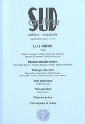 Revue Autre Sud T.18 ; Louis Mizon - Intérieur - Format classique