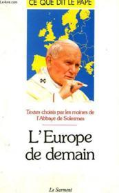 L'Europe de demain - Couverture - Format classique