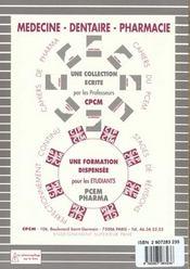 Histologie Embryologie N.34 - 4ème de couverture - Format classique