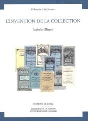 Invention De La Collection (L') - Couverture - Format classique