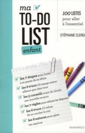 Ma to do list enfant -18 mois a 6 ans