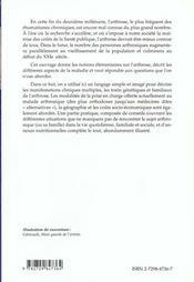 L'Arthrose Descriptions Traitements Et Conseils - 4ème de couverture - Format classique