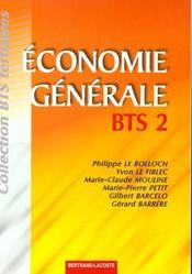 Economie generale bts 2 - Intérieur - Format classique