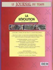 La Revolution. Le Journal Du Temps - 4ème de couverture - Format classique