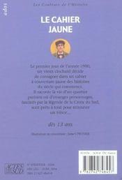 Le cahier jaune - 4ème de couverture - Format classique