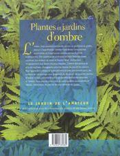 Plantes et jardins d'ombre - 4ème de couverture - Format classique