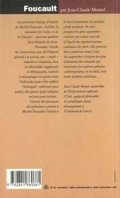 Foucault ; la police des conduites - 4ème de couverture - Format classique