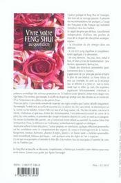 Vivre votre feng shui au quotidien - 4ème de couverture - Format classique