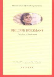 Philippe boesmans ; entretiens et temoignages - Intérieur - Format classique