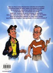 Les aventures de Fred et Jamy t.1 ; la croix des templiers - 4ème de couverture - Format classique