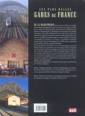 Plus Belles Gares De France - 4ème de couverture - Format classique