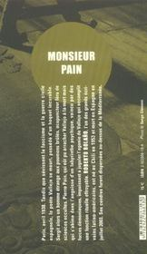 Monsieur pain - 4ème de couverture - Format classique