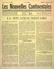 Nouvelles Continentales (Les) N°134 du 09/10/1943 - Couverture - Format classique