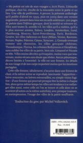 Métamorphoses des villes - 4ème de couverture - Format classique