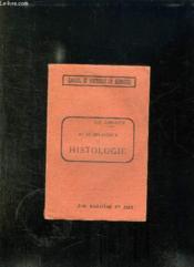 AIDE MEMOIRE D HISTOLOGIE POUR LA PREPARATION DU DEUXIEME EXAMEN. 6em EDITION ENTIEREMENT REFONDUE. - Couverture - Format classique