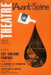 L'Avant-Scene - Theatre N° 265 - Les Violons Parfois De Francoise Sagan - Couverture - Format classique