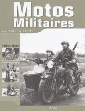Motos militaires de 1900-1970 - Couverture - Format classique