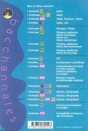 Bacchannales Sms ; Communication En Santé Et Action Sociale Et Sciences Sanitaires Et Sociales ; Sujets Du Bac Corrigés Et Commentés (3e Edition) - 4ème de couverture - Format classique