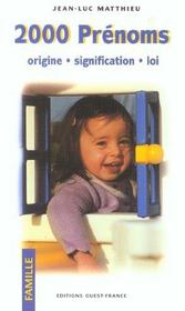 2000 Prenoms - Intérieur - Format classique
