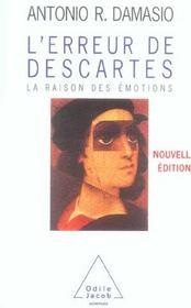 L'erreur de Descartes ; la raison des émotions - Intérieur - Format classique
