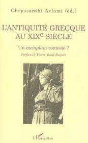 L'Antiquite Grecque Au Xix Siecle ; Un Exemplum Conteste - Intérieur - Format classique