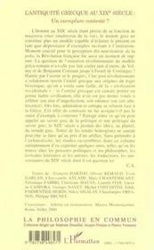 L'Antiquite Grecque Au Xix Siecle ; Un Exemplum Conteste - 4ème de couverture - Format classique