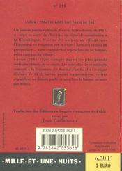 Tempete Dans Une Tasse De The - 4ème de couverture - Format classique