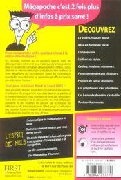 Word 2003 et excel 2003 pour les nuls - 4ème de couverture - Format classique