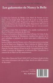 Galanteries de nancy la belle t2 (les) - 4ème de couverture - Format classique