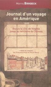 Journal d'un voyage en Amérique 1820 ; depuis la côte de Virgine jusqu'au territoire de l'Illinois - Intérieur - Format classique
