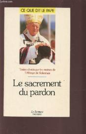 Le sacrement du pardon - Couverture - Format classique