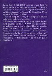 Léon Blum ; textes choisis, 1919-1920 - 4ème de couverture - Format classique