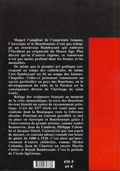 Auvergne bourbonnais forez ; la sculpture flamboyante - 4ème de couverture - Format classique