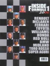 Inside Formula 1 (edition 2006) - 4ème de couverture - Format classique