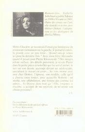 Denise klossowski, le 16 octobre 2002 - 4ème de couverture - Format classique