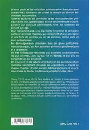 Initiation Au Droit Public Et Aux Institutions Administratives Avec Fiches De Synthese Et Qcm - 4ème de couverture - Format classique