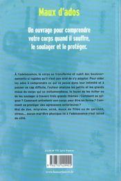 Maux D'Ados - 4ème de couverture - Format classique