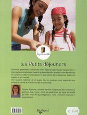 Petits Dejeuners Les Petits Cuistots (Les) - 4ème de couverture - Format classique