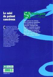 Suivi Du Patient Cancereux - 4ème de couverture - Format classique