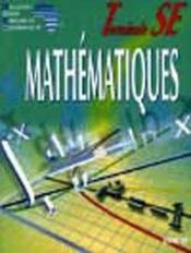 Mathematiques Ciam Terminale Se (Serie D) - Couverture - Format classique
