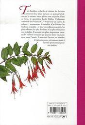 Fuchsias ; comment les choisir et les cultiver facilement - 4ème de couverture - Format classique