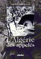 Lalgerie Des Appeles - Couverture - Format classique