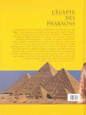 L'egypte au temps des pharaons - 4ème de couverture - Format classique