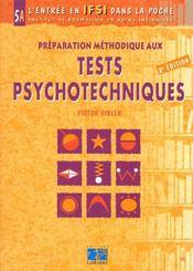 Preparation Methodologique Aux Tests Psychotechniques Tome 5a - Intérieur - Format classique