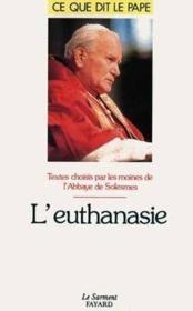 L'euthanasie - Couverture - Format classique
