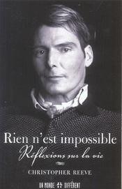 Rien N'Est Impossible - Reflexions Sur La Vie - Intérieur - Format classique