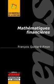 Mathematiques financieres - Couverture - Format classique